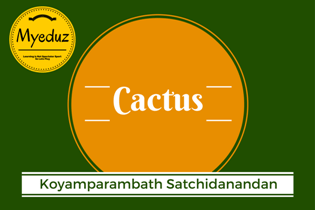 Cactus Summary by Koyamparambath Satchidanandan