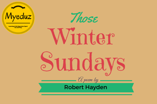 Those Winter Sundays Summary by Robert Hayden