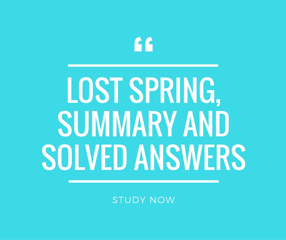 Lost Spring Summary, Solved Question and Answers CBSE 12