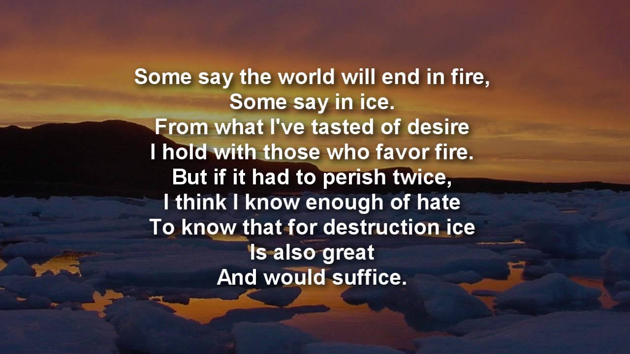 Literature Quotes Wallpapers Fire And Ice Ncert Question Answers Beaming Notes
