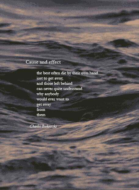 Summary and Analysis of Cause and Effect by Charles Bukowski