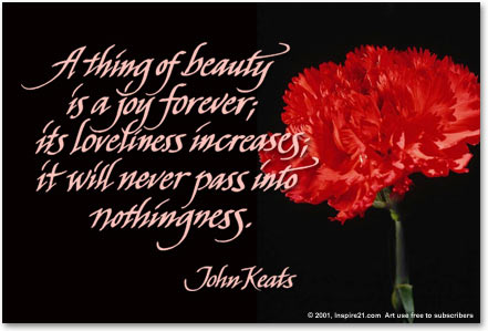 Summary and Meaning of A Thing of Beauty by Keats