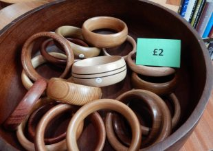 wooden bangles locally made