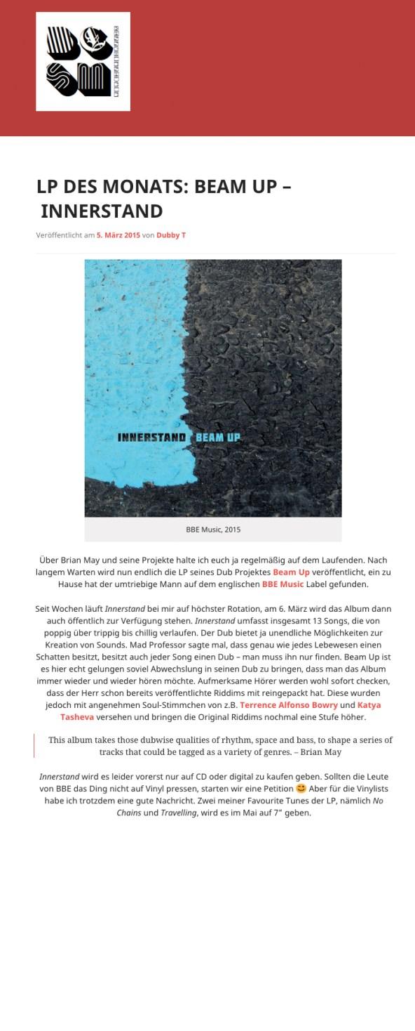 LP des Monats basscomesaveme Mar 2015