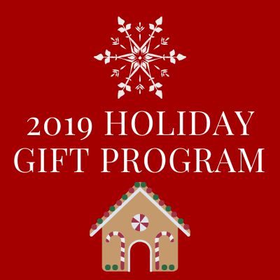 Join us for our annual Holiday Gift Program. Volunteer for Gift Bag Decorating