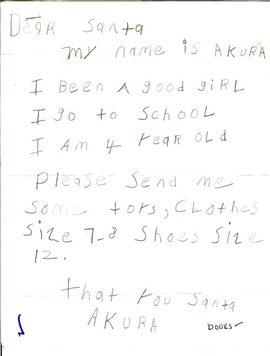 Real Letters to Santa Claus from Kids