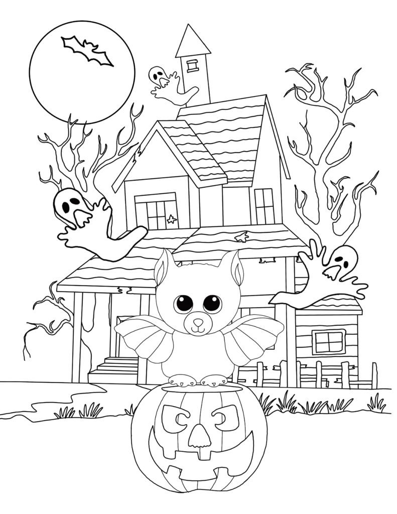 Free Beanie Boo Coloring Pages Download & Print: Cats