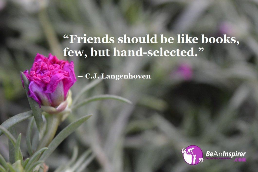 Friends-should-be-like-books-few-but-hand-selected-C-J-Langenhoven-Top-100-Friendship-Quotes-Be-An-Inspirer