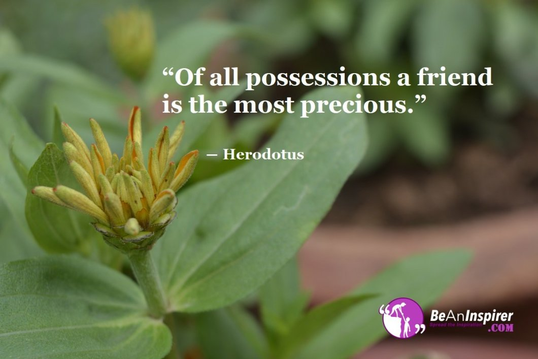 Of-all-possessions-a-friend-is-the-most-precious-Herodotus-Top-100-Friendship-Quotes-Be-An-Inspirer