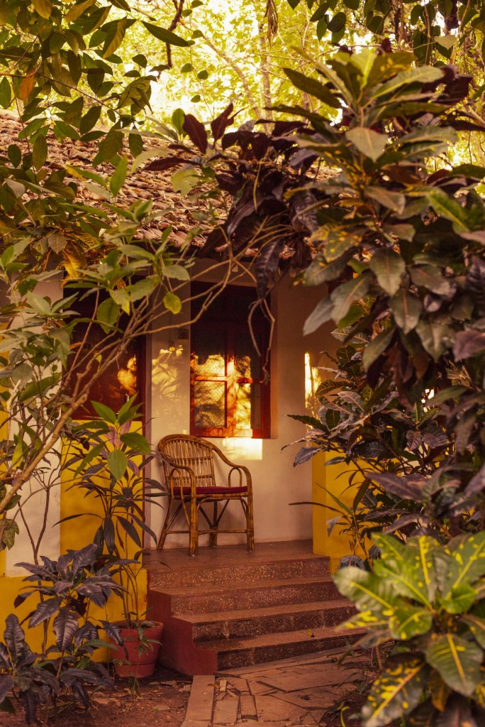 Porch view: Bed and Breakfast in Goa at Bean Me Up, Vagator