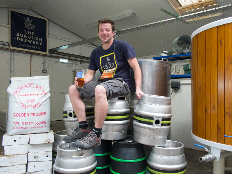 Vegan beer brewer Rory of The Borough Brewery in Lancaster