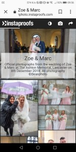 Zoe & Marc's wedding gallery app