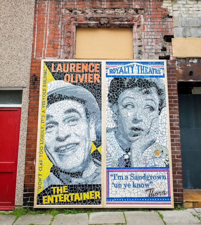 Fantastic Morecambe: Giant, colourful mosaics pop up in the Lancashire seaside town