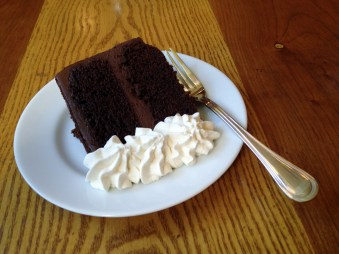 Vegan Chocolate Cake -- with whipped cream