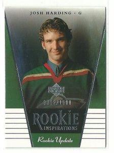 2002-03 Upper Deck Rookie Update #123 Josh Harding