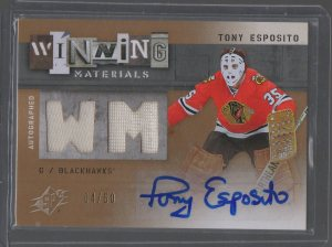 2009-10 SPx Winning Materials Autographs #AWMTE Tony Esposito