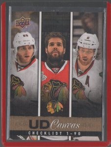 2013-14 Upper Deck Canvas #C90 Patrick Kane/Corey Crawford/Duncan Keith CL
