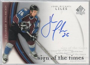 2005-06 SP Authentic Sign of the Times #JM John-Michael Liles