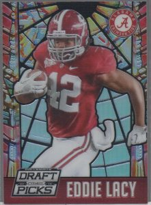2015 Panini Collegiate Prizm Draft Picks Stained Glass #21 Eddie Lacy
