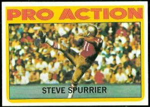 Spurrier 72 Topps In Action