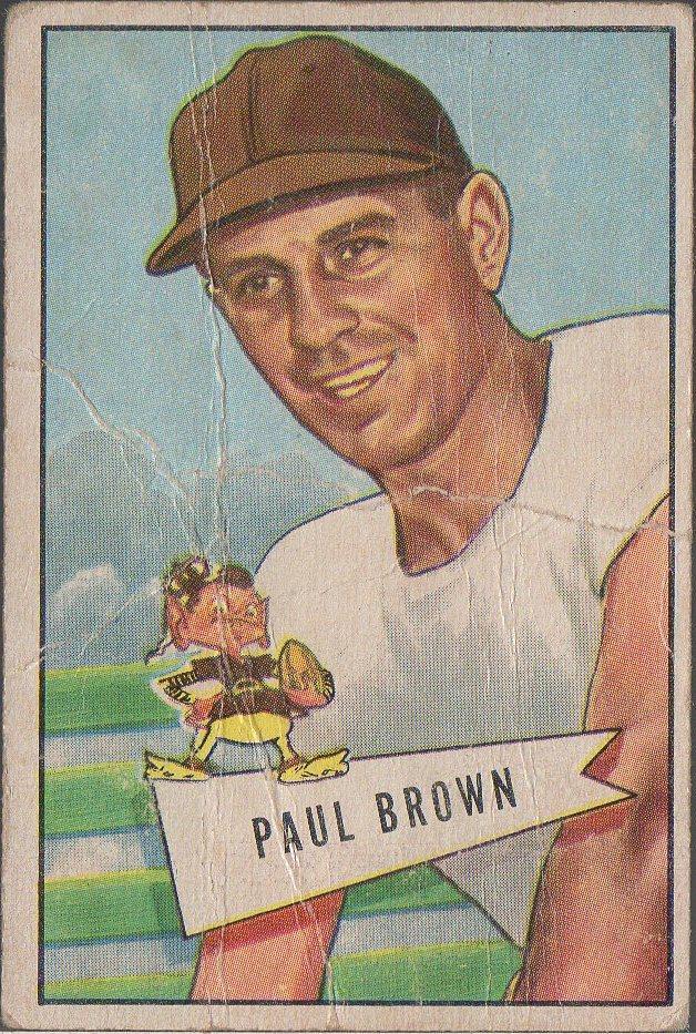 1952 Bowman Small #14 Paul Brown