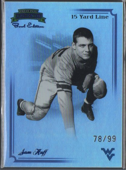 2008 Press Pass Legends Bowl Edition 15 Yard Line Blue #74 Sam Huff