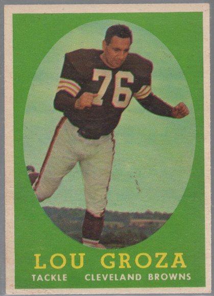 1958 Topps #52 Lou Groza