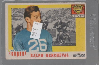 1955 Topps All American #88 Ralph Kercheval
