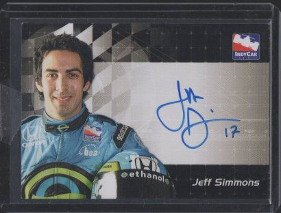 2007 Rittenhouse IRL Autographs #16 Jeff Simmons