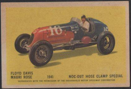 1960 Hawes Wax Indy #29 Mauri Rose/Floyd Davis