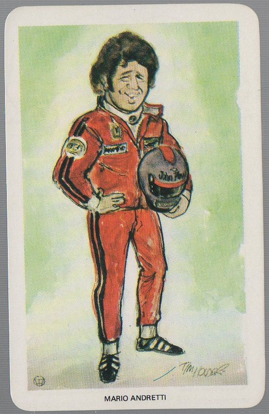 Mario Andretti 1979 Venorlandus World of Sport Our Heroes Flik-Cards #6