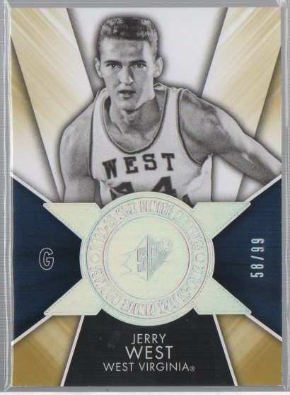 2014-15 SPx Finite Legends Radiance #F-WE Jerry West