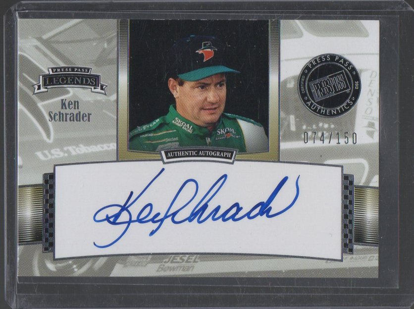 2012 Press Pass Legends Autographs #LGKS Ken Schrader