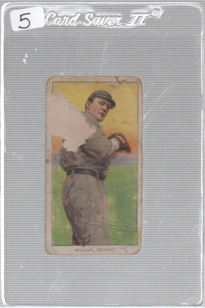 1909-11 The American Tobacco Company T206 White Border #NNO Ed Killian (pitching variation)