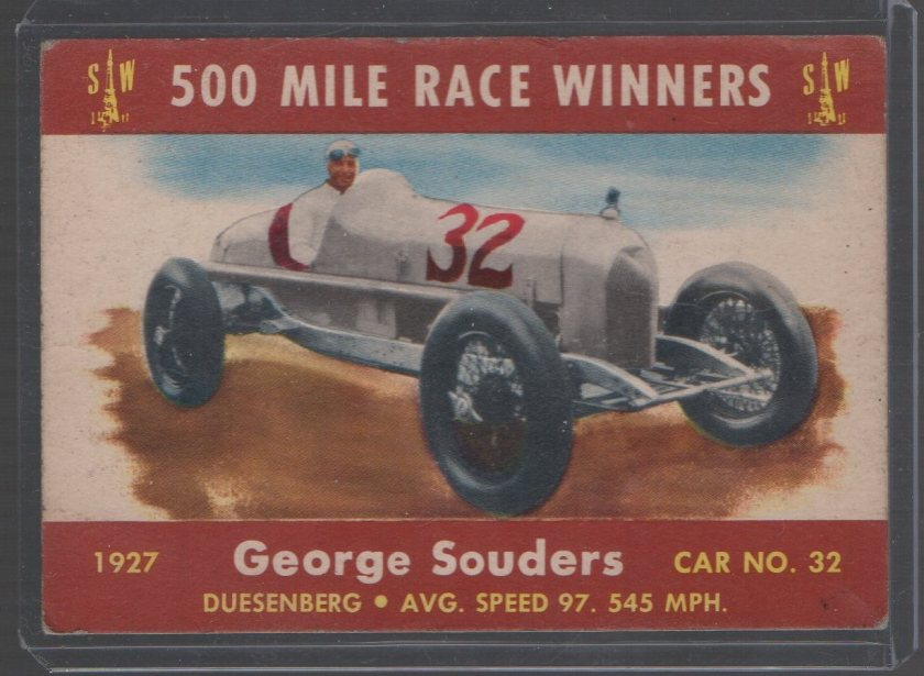 1954 Stark and Wetzel Indy Winners #1927 George Souders