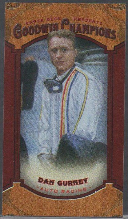 2014 Upper Deck Goodwin Champions - Mini Foil Magician Red #47 Dan Gurney SN14