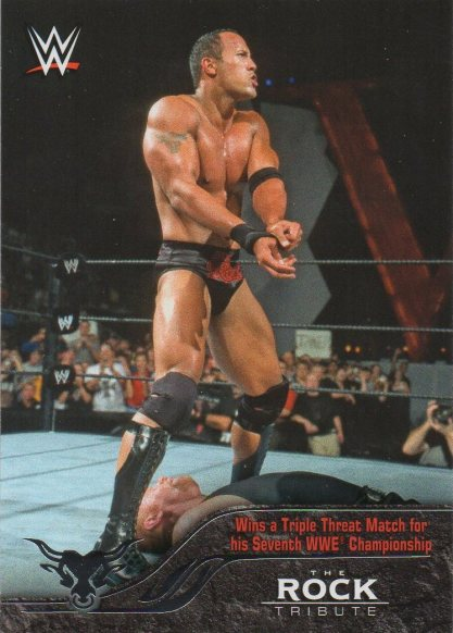 2016 Topps WWE Heritage - The Rock Tribute #24 The Rock