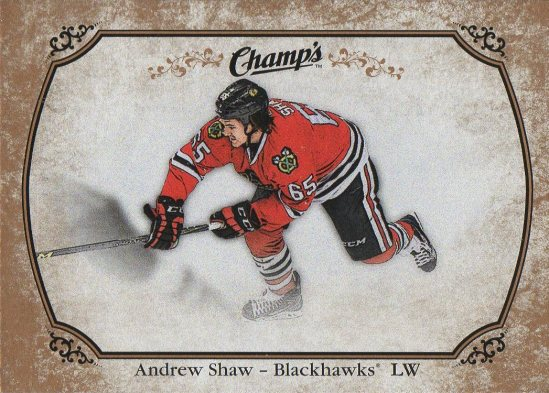 2015-16 Champs Gold Back #89 Andrew Shaw