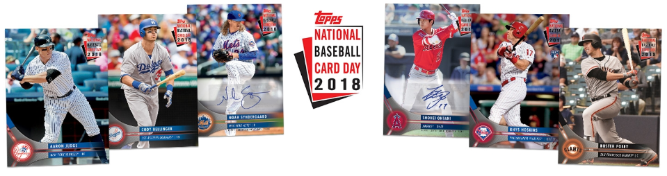 2018 Topps National Baseball Card Day Checklist