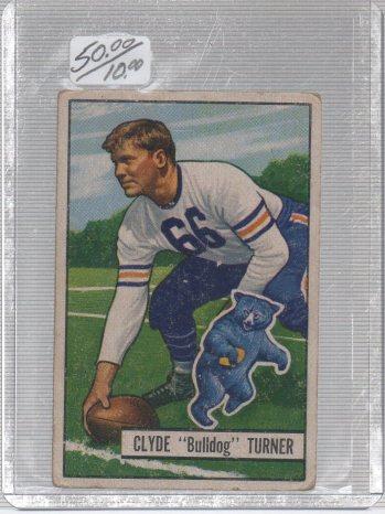 1951 Bowman #13 Bulldog Turner