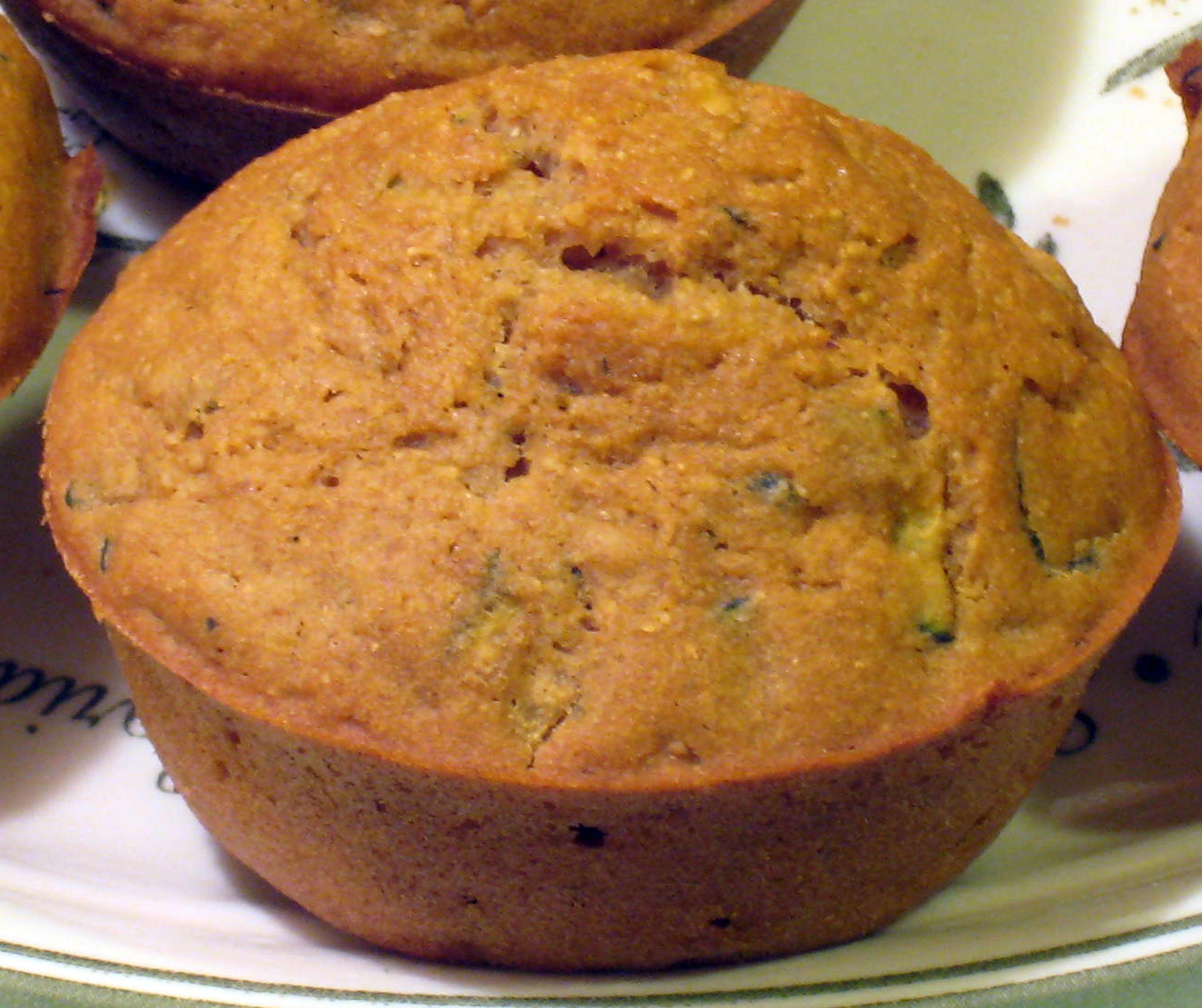 zucchini corn muffin