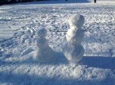 Snowmen keeping watch over Back Circle