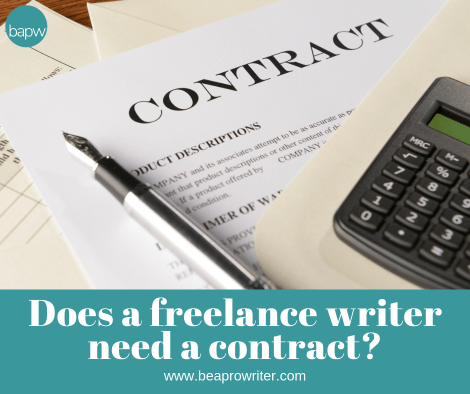 Freelance Writer's Contract--Who needs one? | Be a Pro Writer