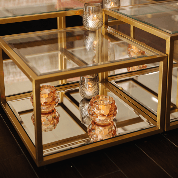 glam mirrored coffee table