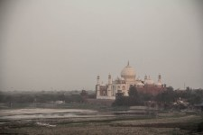 Shah Jahan was overthrown by his son who imprisoned him in Agra fort. From his cell he had this view of the Taj.