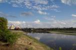 Despite the crowded business of Agra, the other side of the river is fairly quiet and undeveloped.