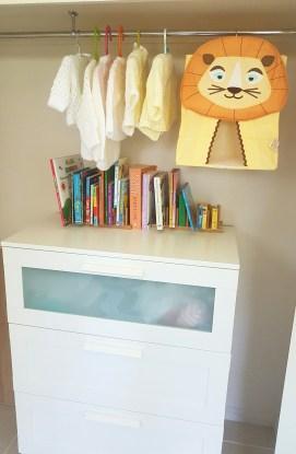 Cupboard storage for nursery