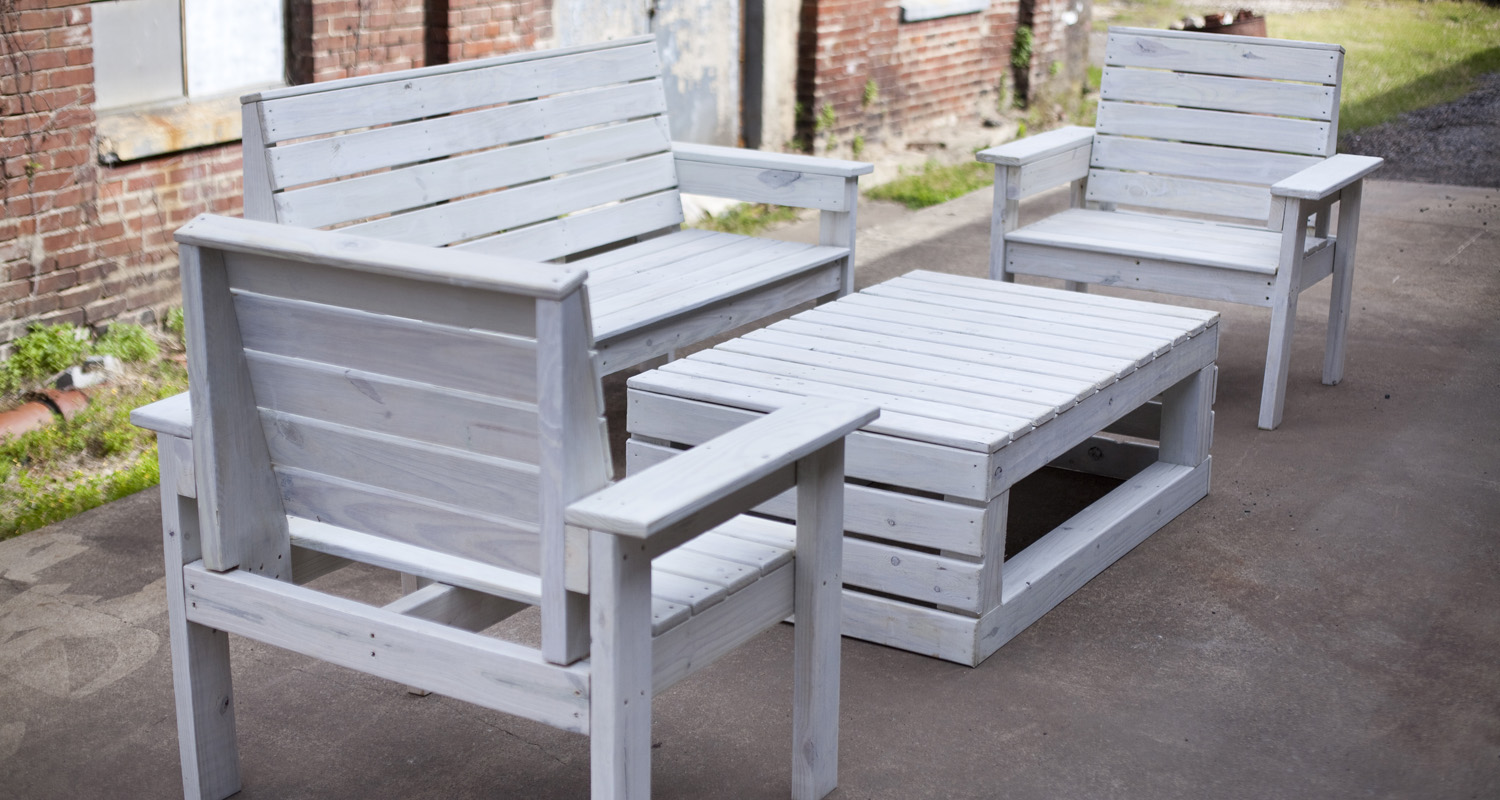 Seating Group - Stained - Pressure Treated Wood