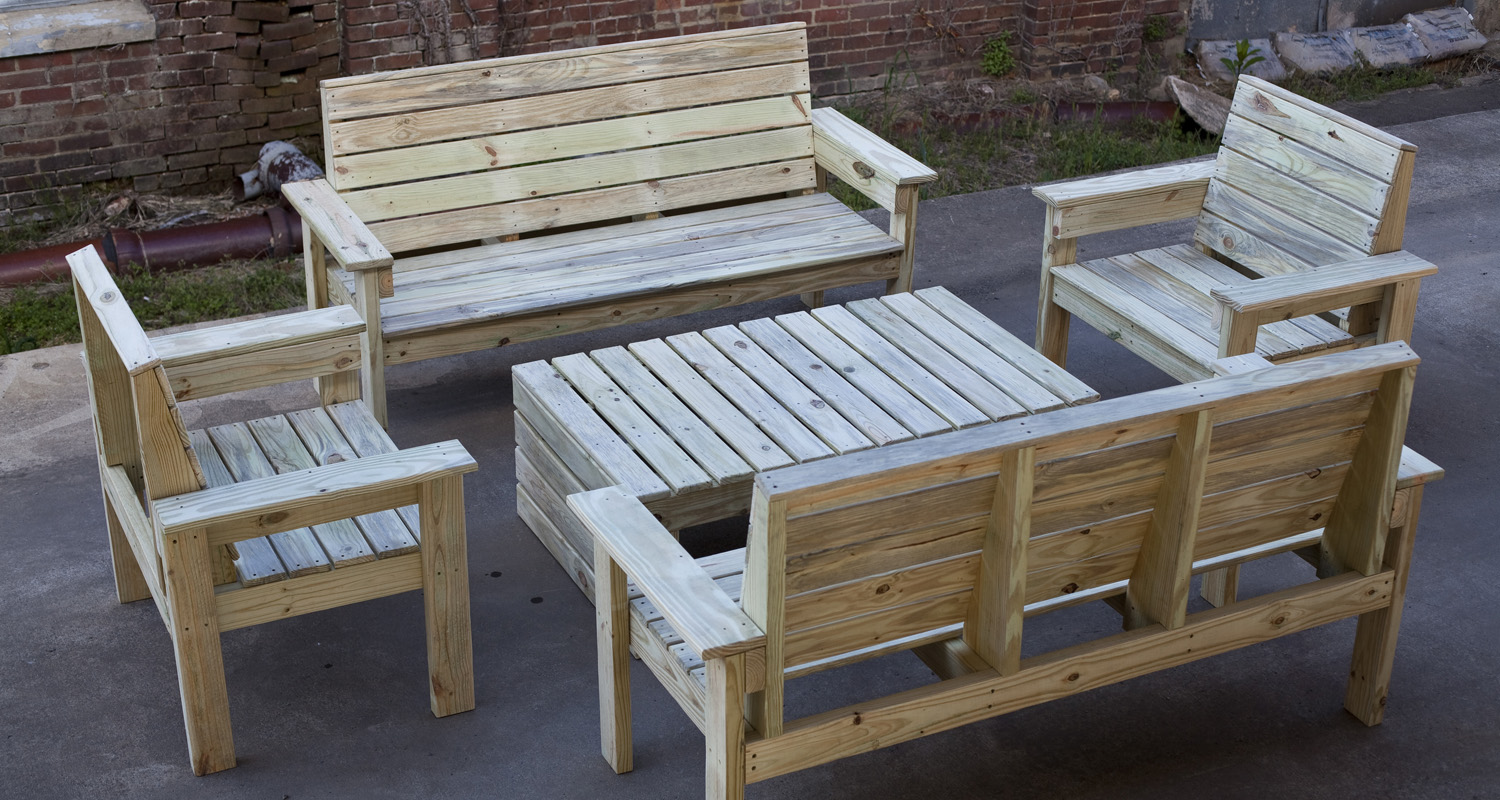 Seating Group - Unfinished - Pressure Treated Wood