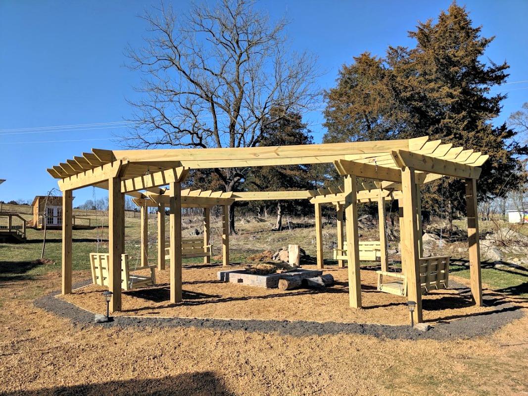 Pergola - Fire Pit - Swings - Pressure Treated Wood